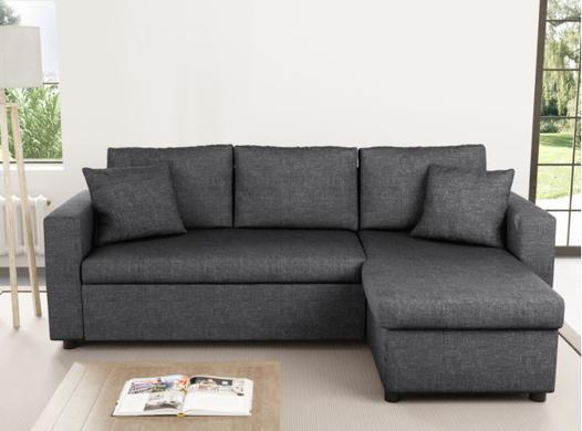 canapé tissu gris
