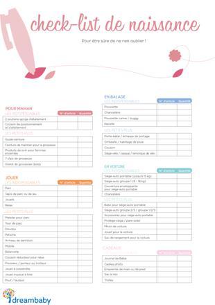 liste de naissance exemple