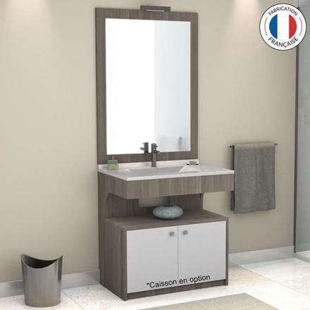 meuble salle de bain avec miroir