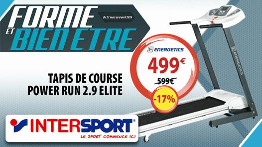 tapis de course intersport