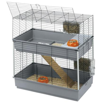 cage double lapin