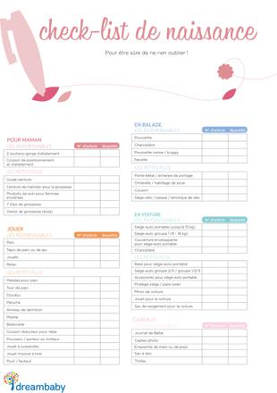 liste de naissance indispensable