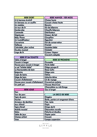 ma liste de naissance