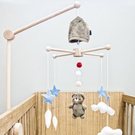 mobile bébé bois