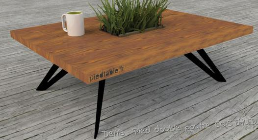 pied table basse