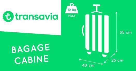 taille bagage cabine transavia