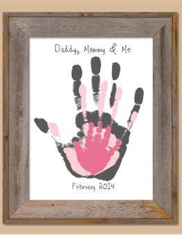 empreinte main bébé peinture