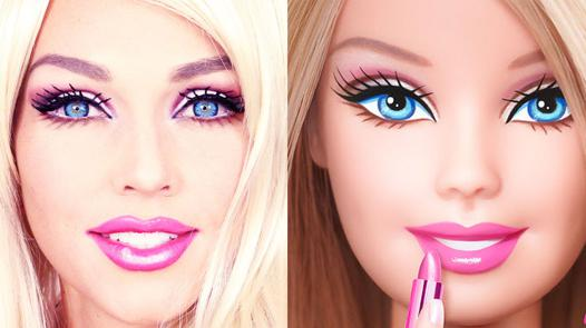 maquillage barbie