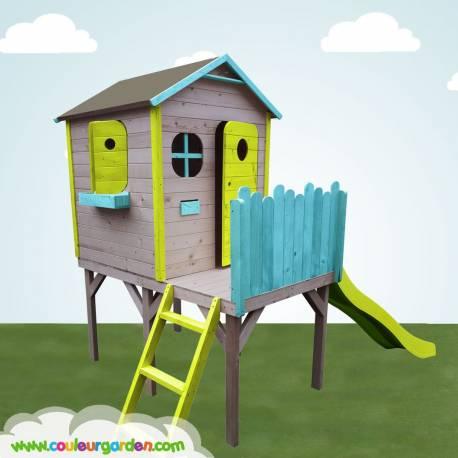 maison enfant sur pilotis