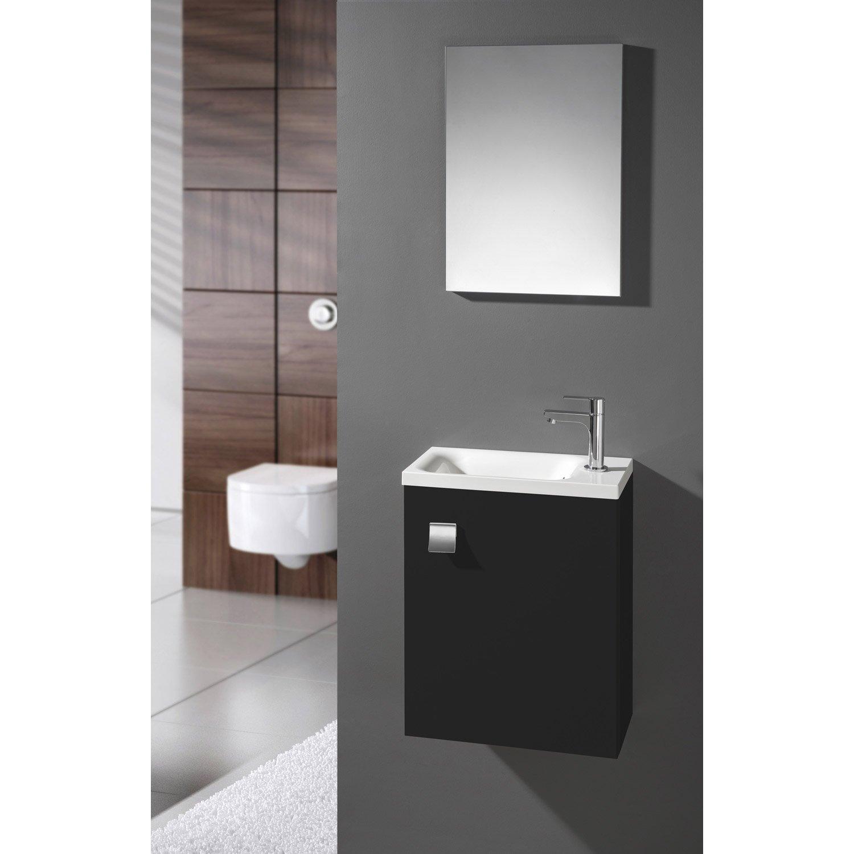 meuble lave main noir