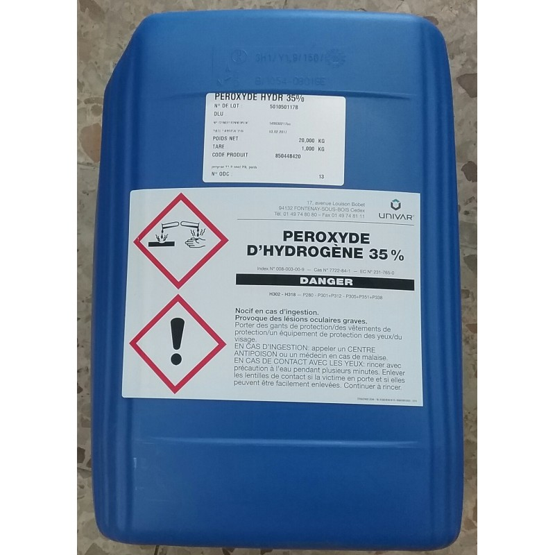 peroxyde d hydrogène piscine