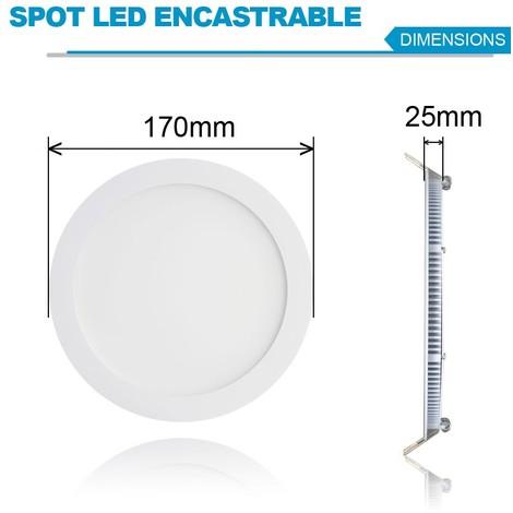 spot led encastrable extra plat