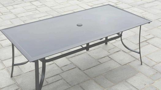 table jardin aluminium